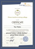 Сертификат европейской фитнес-ассоциации EuropeAct