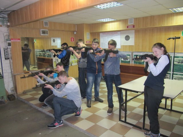 Практика в тире-стрельбы