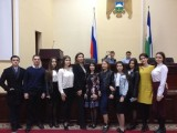 Наши студенты на встрече с депутатами.
